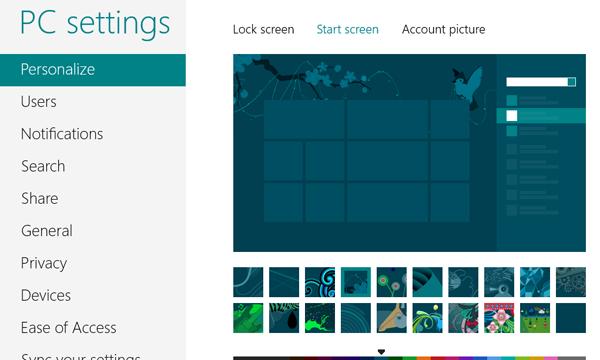 Cara Mengganti Background Start Screen Windows 8