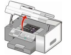 как достать картридж принтер лексмарк е120 инструкция