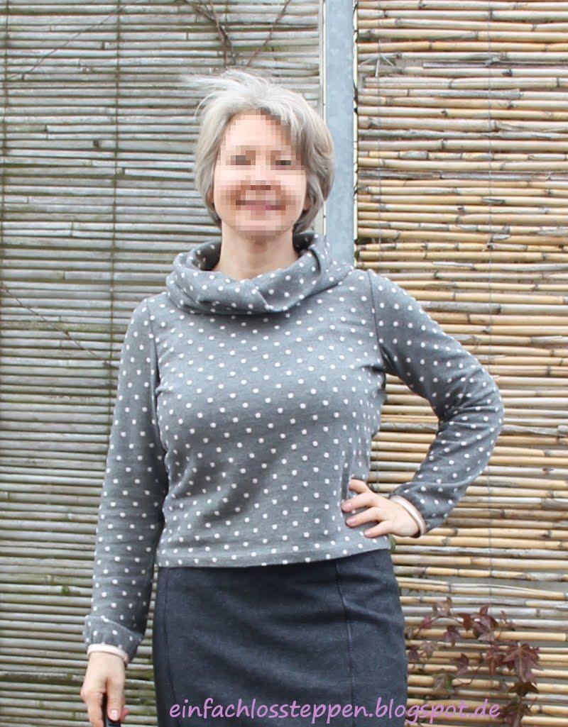 einfach los steppen: Pullover aus Strick nähen - aber wie?