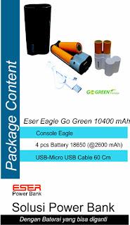 Power Bank Eser Eagle Go-green 10400 mAh