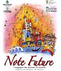 """affiche pour """"note future"""" 2016, concours de musique"""