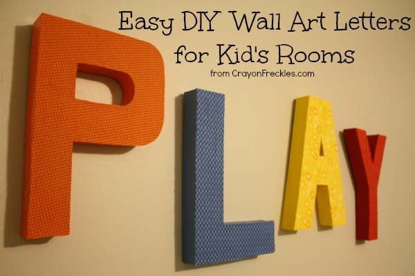 Crayon Freckles: Easy DIY Wall Art for a Kid\'s Room {tutorial}