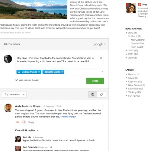 Add Google+ Comments To Your Site