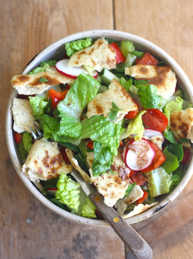 Fattoush - Middle Eastern Bread Salad