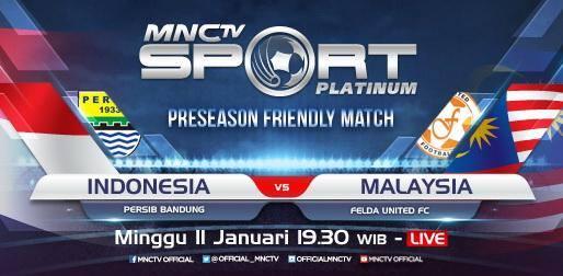Persib vs Felda United Disiarkan Langsung MNCTV Minggu (11/1)