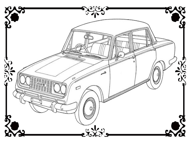 Antique Car Coloring Pages To Print