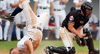 funny picture baseball player falls on his mouth