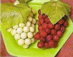 Cachos de Uva de Chuchu e Beterraba