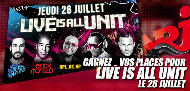 "Jeu NRJ: places pour le festival ""LIVE IS ALL UNIT"""
