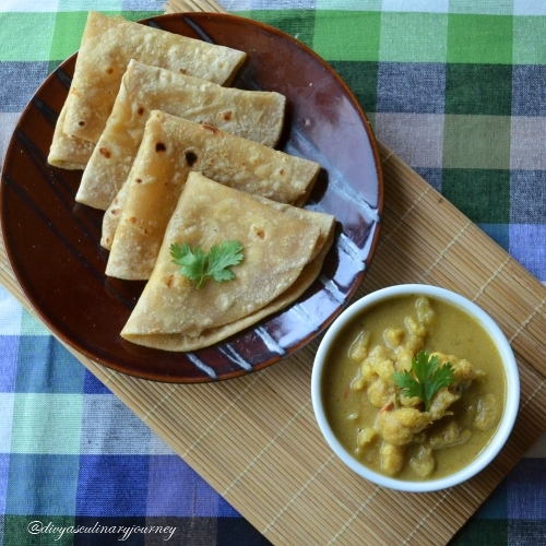 Cauliflower Kurma , side dish for chappathi