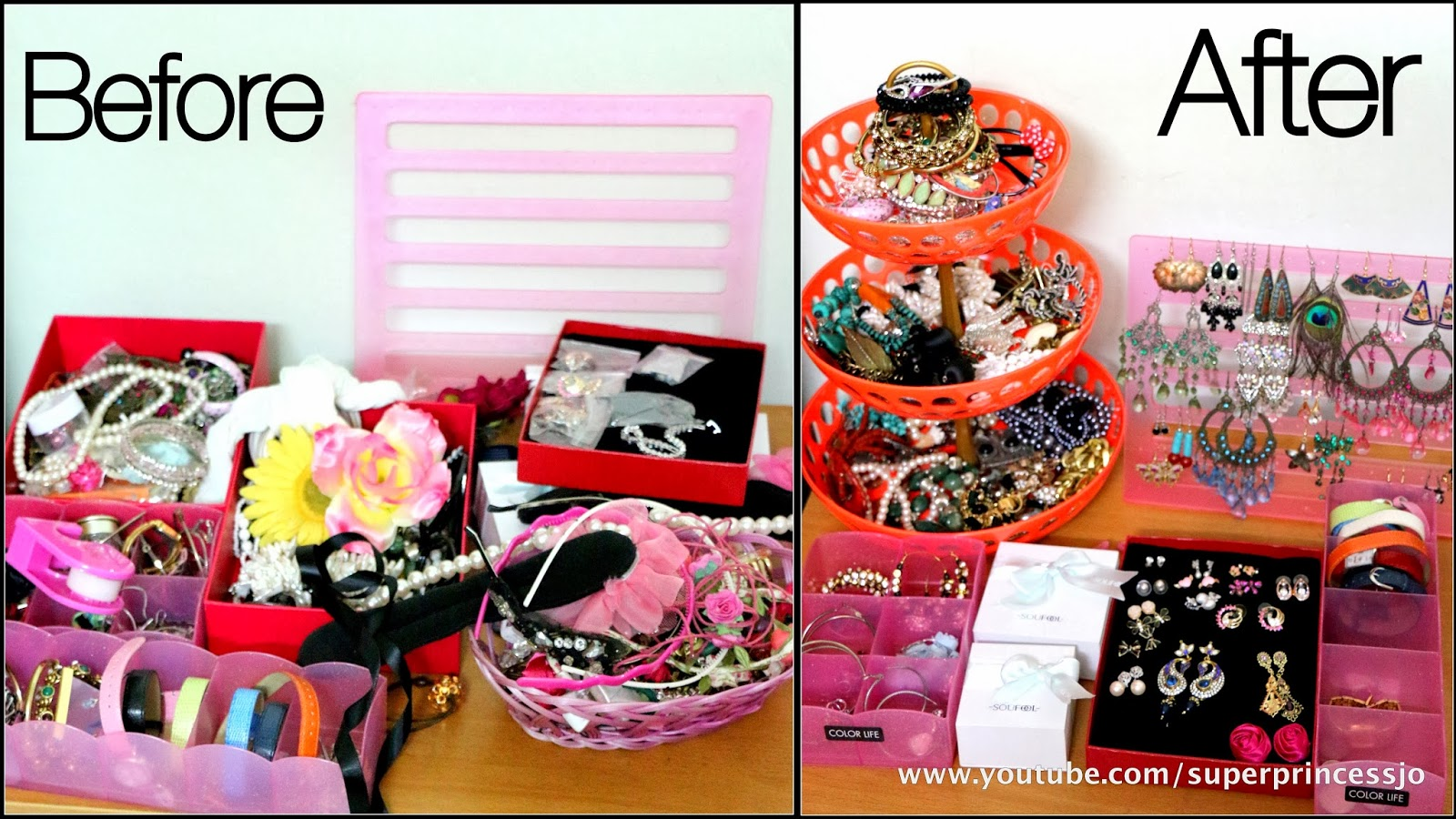 The Pink Organizers Are To Organize Your Any Stuff, You Can Also Use These  As Pink Makeup Organizers (previously I Was Organizing My Makeup In These) .