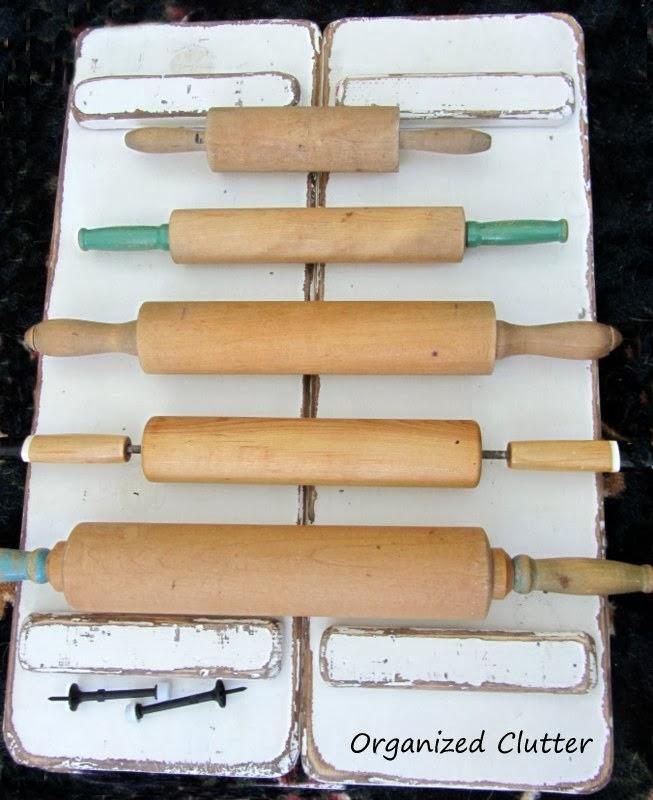 Rolling Pin Display www.organizedclutterqueen.blogspot.com