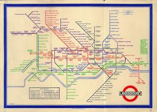 Mappa della metropolitana londinese di Henry Beck 1932 - www.britton.disted.camosun.bc.ca