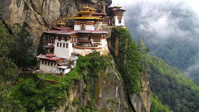 El monasterio Taktsang Dzong (Bután)