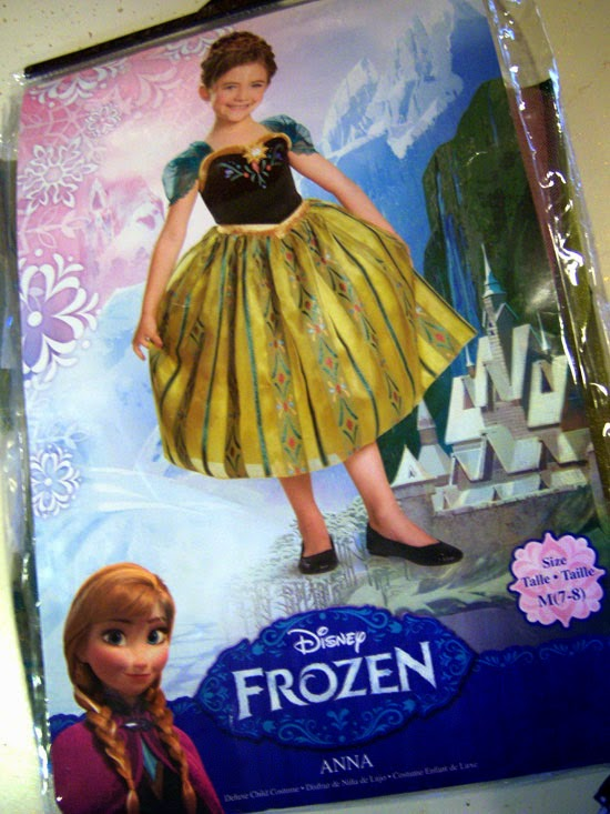 Disney Frozen Costume: Anna's Coronation Gown package