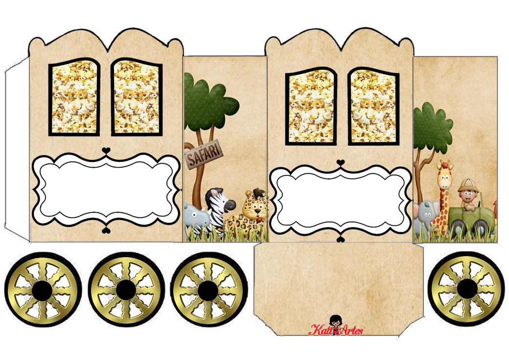 The Jungle: Princess Carriage Shaped Free Printable Box.