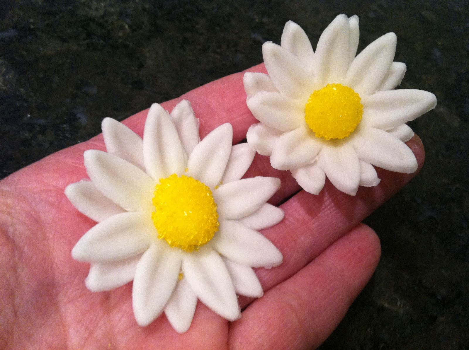 The Iced Queen Fondant Daisies