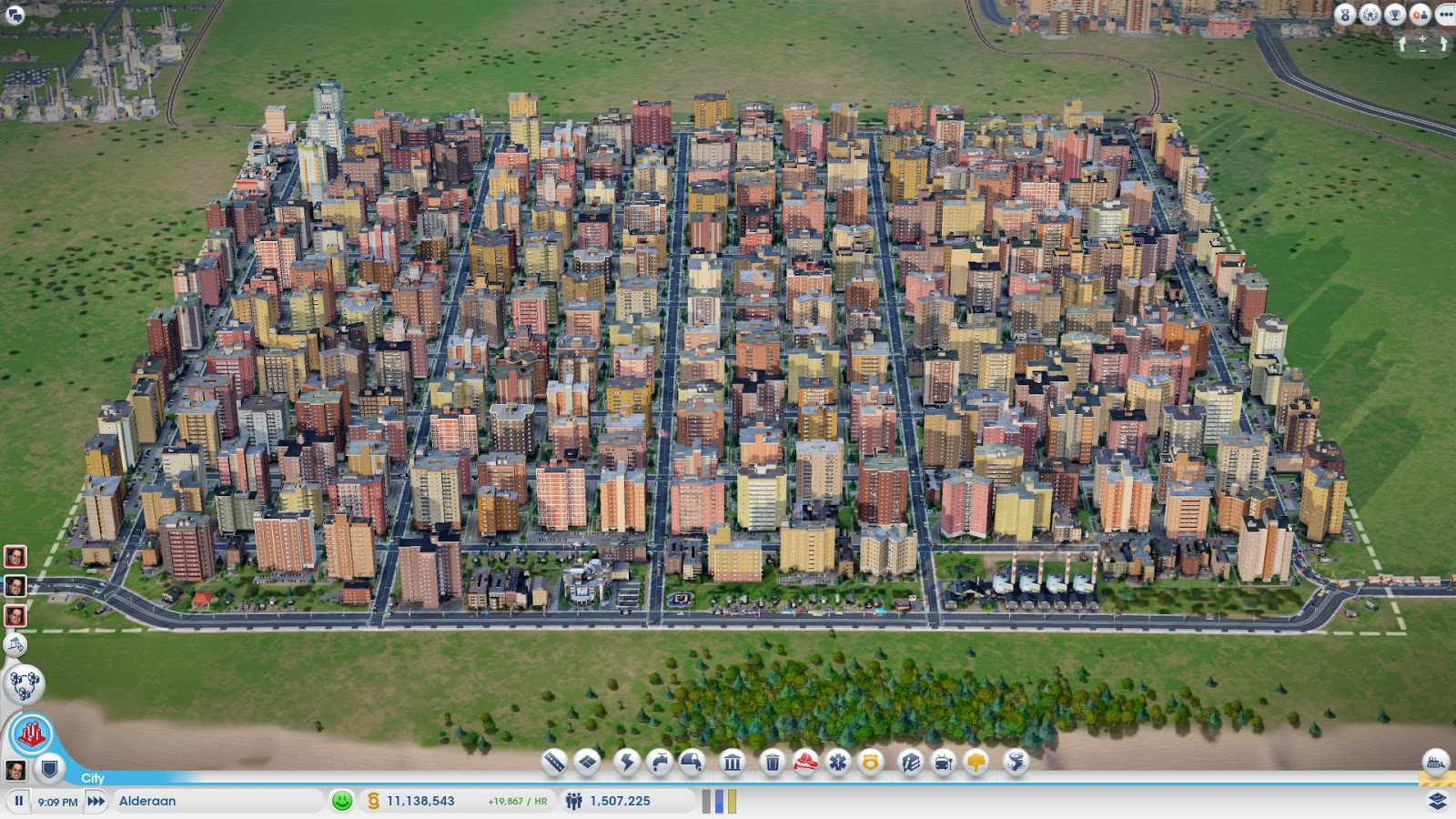 The Sim City Planning Guide High Population Power Plant Layout At End This 15 Million Had 1 Dump School Precinct Hospital And Fire Station Located Within Its Borders