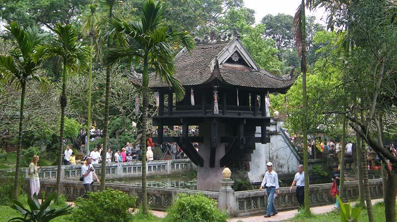 La Pagoda del Pilar Único en Hanoi