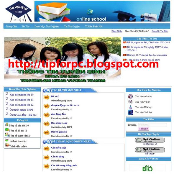 Đồ án tốt nghiệp Mã nguồn code Website thi trắc nghiệm trực tuyến bằng PHP + báo cáo