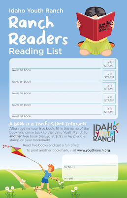 Idaho Youth Ranch Readers Program Bookmark