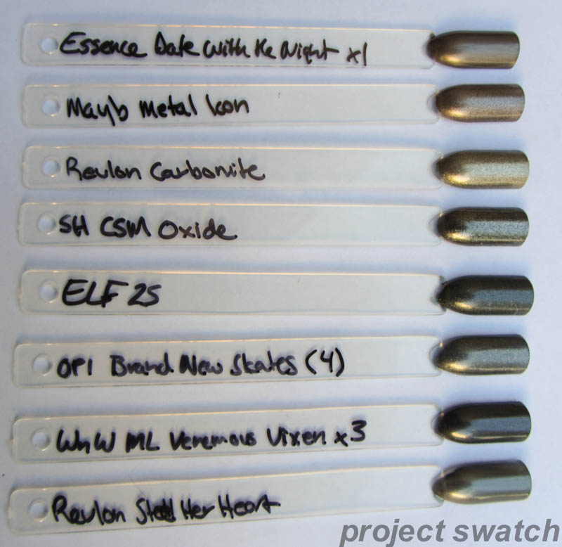 Chrome, Foil, and Metallic Nail Polish Swatches, Comparisons, Photos ...