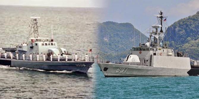 Lucu, Kapal perang Indonesia dan Malaysia ini punya nama sama
