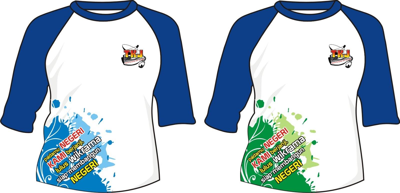 Contoh design tshirt kelas - Contoh Desain Kaos T Shirt Raglan