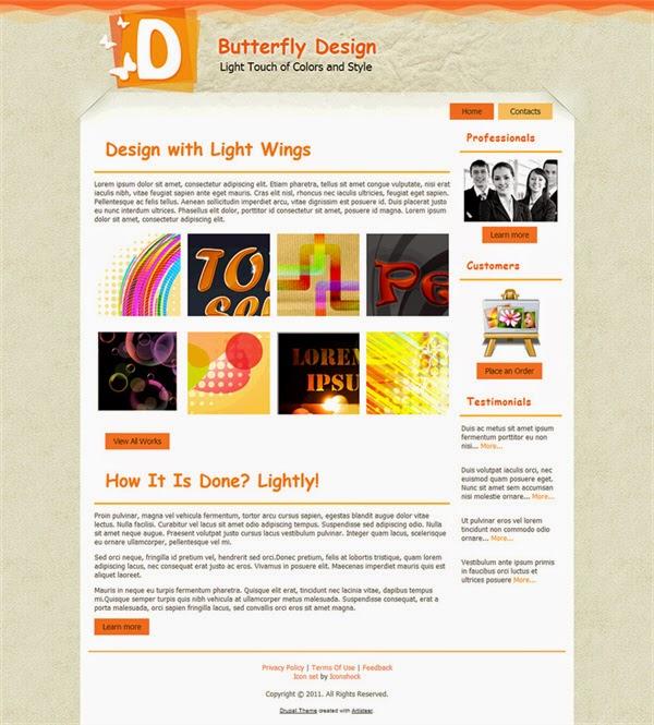 Butterfly Design - Free Drupal Theme
