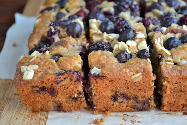Blueberry-Blackberry Oat Cake recipe
