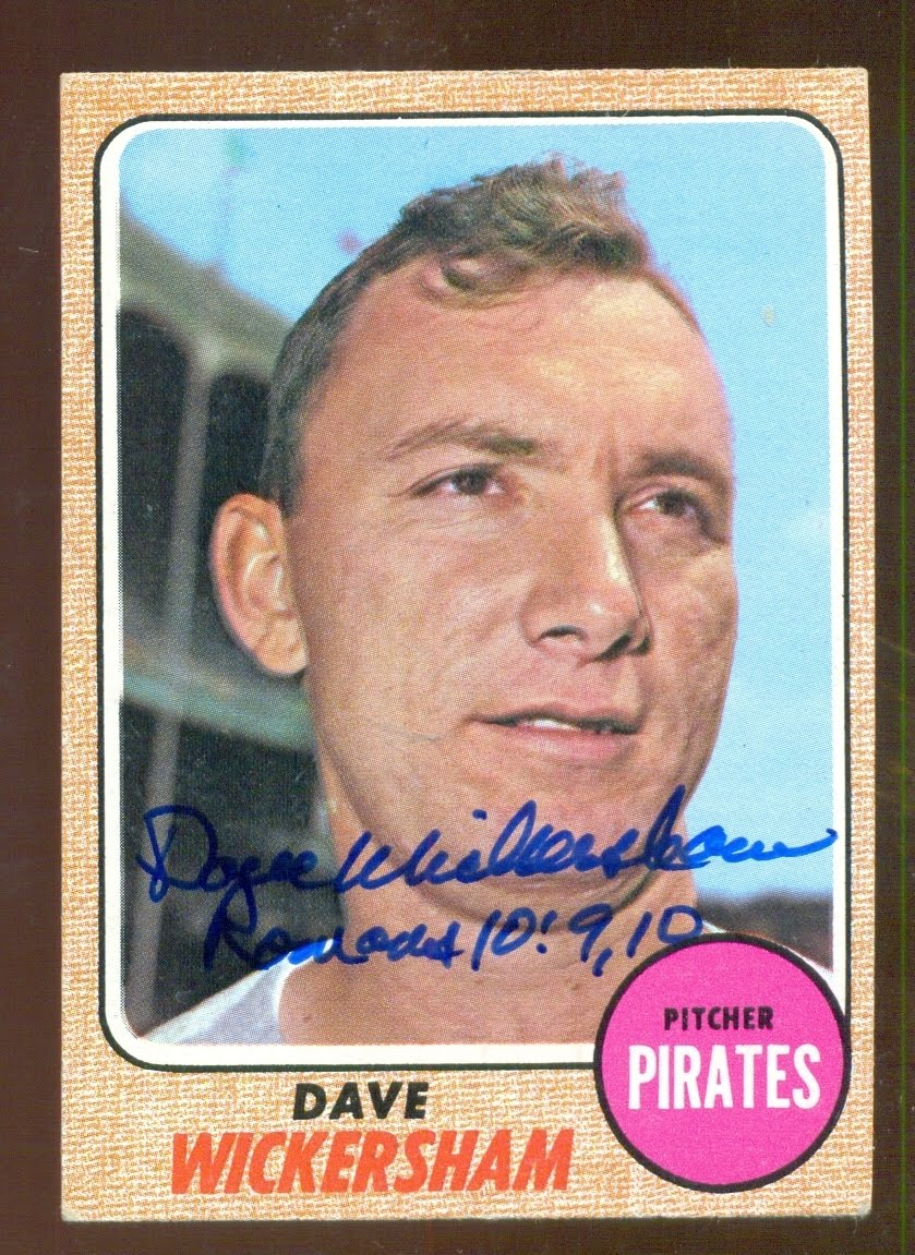 Dave Wickersham 1968 baseball card