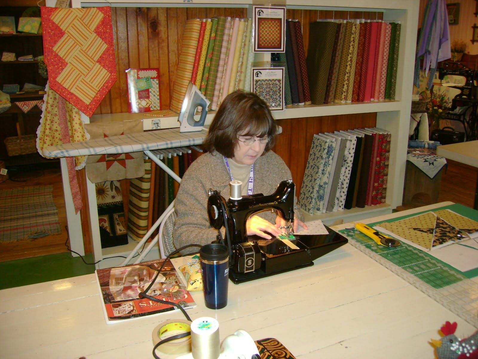 Taking A Quilting Class
