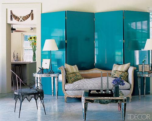 Mirrored Folding Screen Room Divider