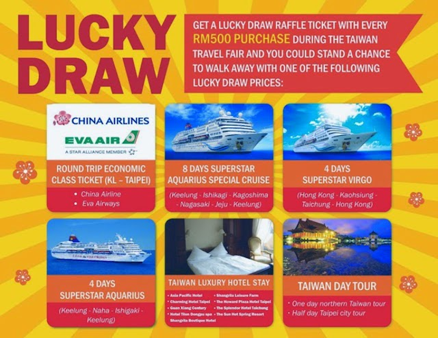 Lucky draws with attractive prizes will be held