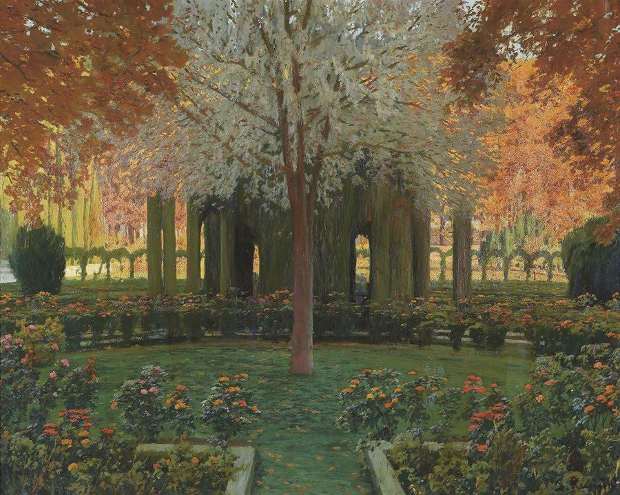 Oeuvres du peintre santiago rusi ol black art for Jardines de aranjuez horario