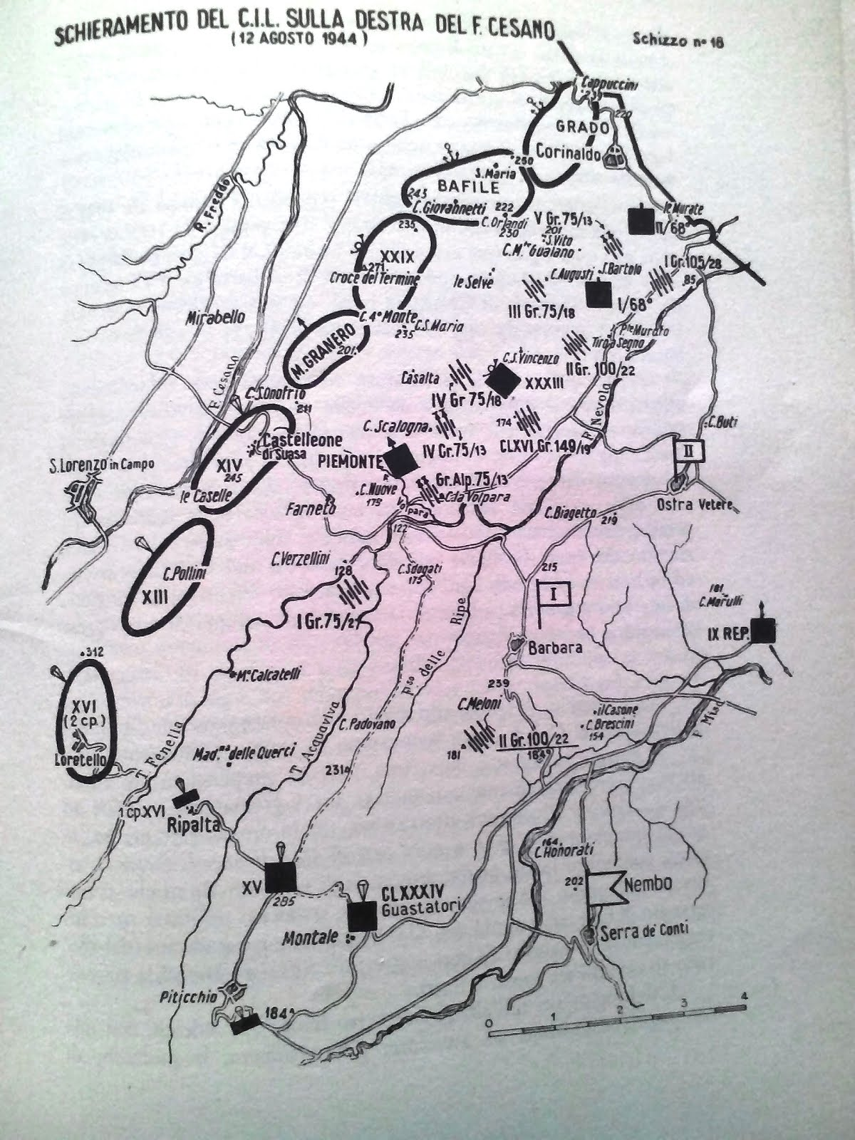 Schieraemnto del Corpo Italiano di Liberazione 12 agosto 1944