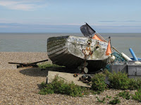 An old boat on the beach at Aldeburgh