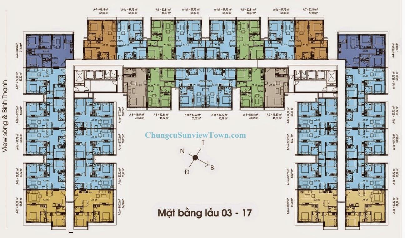 mat bang tang can ho sunview town