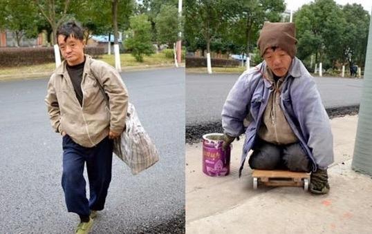Lihat Bagaimana Pengemis Ini Berpura-Pura Lumpuh Untuk Merai Simpati