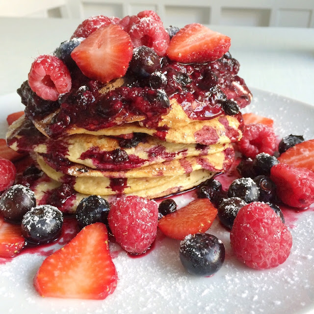 gesundes Frühstück, Muttertag, Pancakes, Pancakestower, eat clean