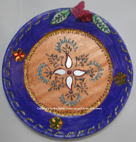 Plate art , decorations