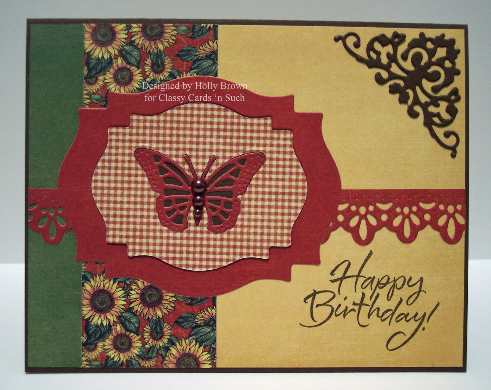 Classy Cards n Such French Country Birthday Butterfly – Country Birthday Cards