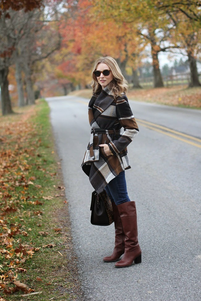 chicwish prairie coat, jcrew jeans, nine west boots, boden handbag, elizabeth and james sunglasses,
