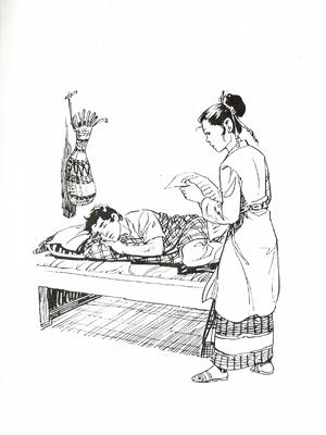 Putri Serindu, Sayembara Pandai Tidur