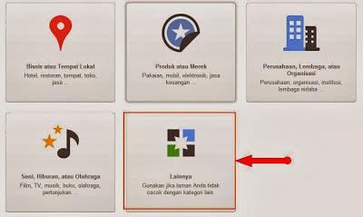 kategori blog dan laman google+
