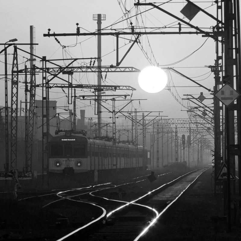 Railway station in Grodzisk Mazowiecki, Poland