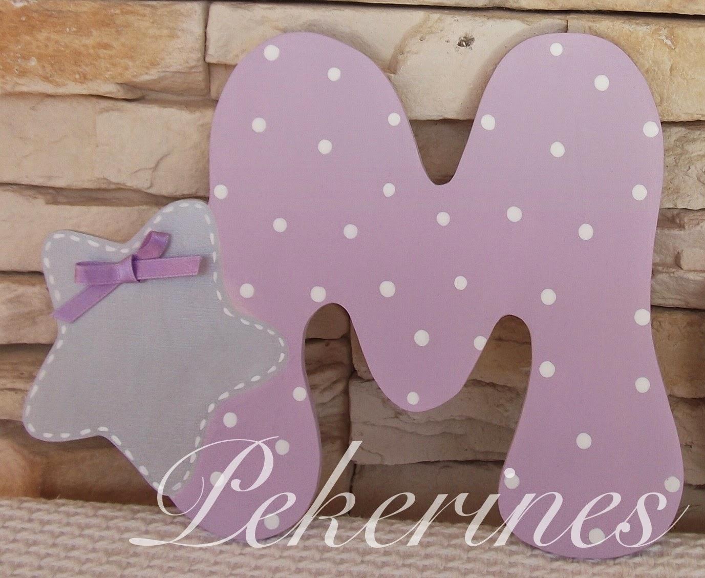 Decoraci n infantil pekerines letras iniciales de madera - Letras para habitaciones infantiles ...