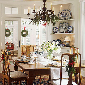 Anyone can decorate christmas dining chair decorating ideas for Holiday dining room decorating ideas