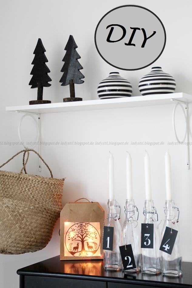 DIY weihnachtliche Laternen aus Papiertüten