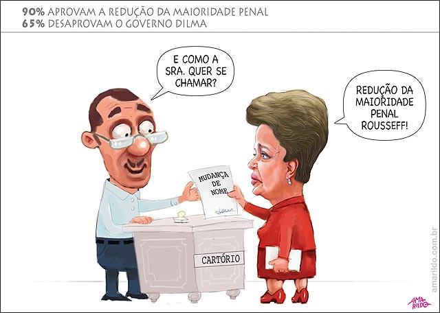 A Popularidade de Dilma caiu ainda mais mais